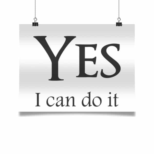 Yes I can do it!